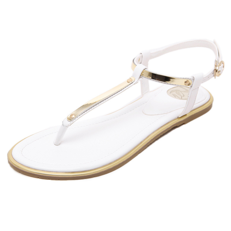 aa67fc90acab plus size Women Sandals 2017 New Summer sequin Sandals Flip Flops size 35  to 43 Shoes Black White Pink Flat Sandal Femme KJ341-in Women s Sandals  from Shoes ...
