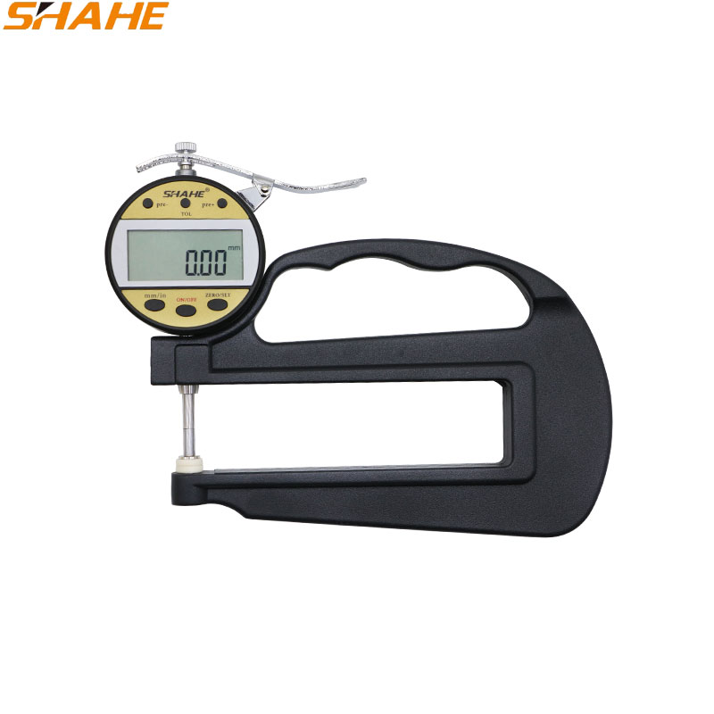 SHAHE 0.01mm 10mm digital thickness gauge metal thickness measurement leather film thickness measurement digital thickness Gauge