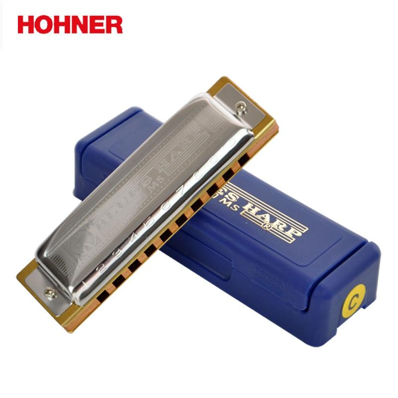 Hohner Blues Harp BH20 10 Hole Harmonica Bules Diatonic Harp, Wooden body Key of C,D,E,F,G,A mini 10 hole c tone harmonica black golden