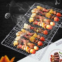 Adeeing Hamburger Barbecue Wire Meshes BBQ Net Clip Meat Fishes Outdoor Barbecue Grill Tools Kitchen Accessories