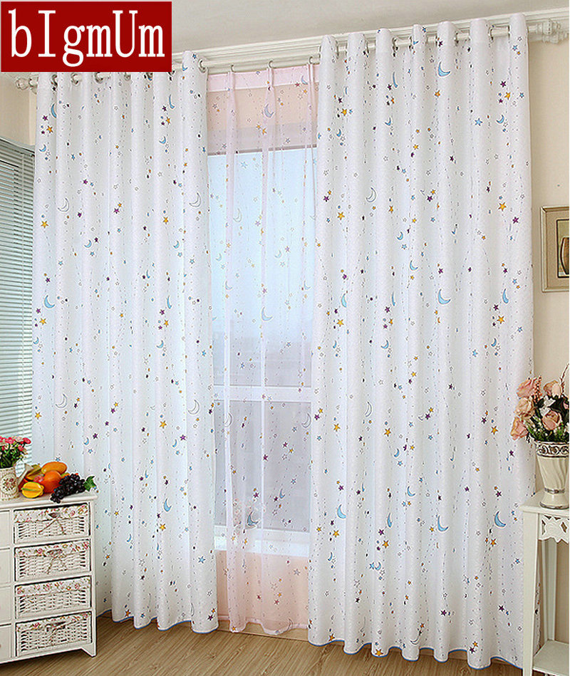Ready made astronomical curtains moon star planet skye for Curtains for kids room