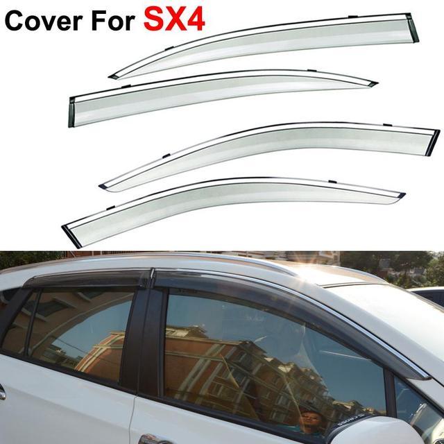 4 шт./компл. солнце дождь щит футляр окна козырьки для Suzuki SX4 2014 2015 автомобилей Stylingg маркизы приюты курить