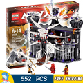 518pcs New 9735 Ninja Garmadons Dark Fortress Building Blocks Model Toys Samukai Bricks Compatible With Lego
