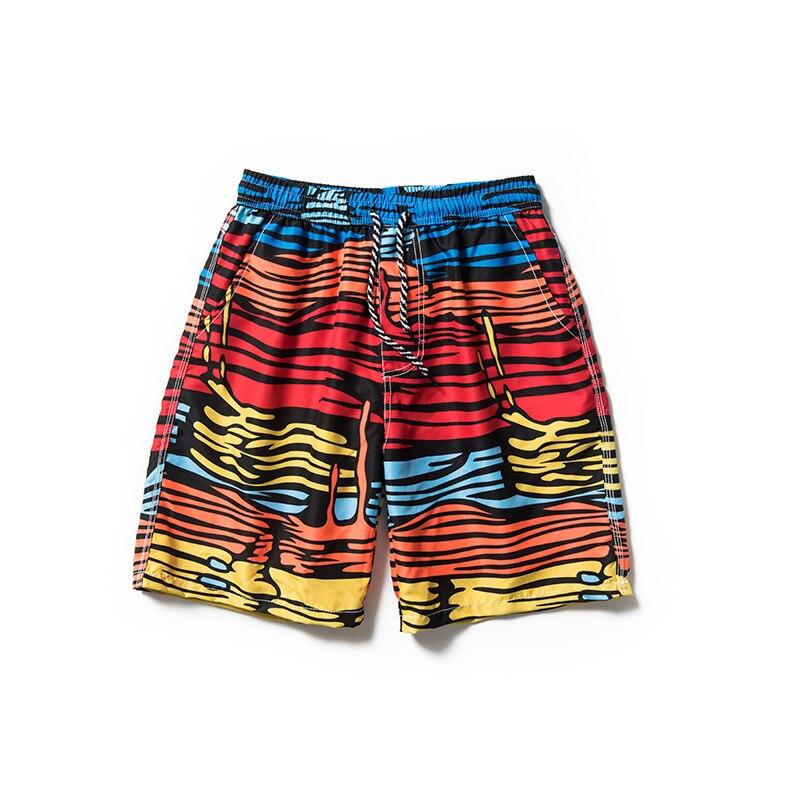 Leopard Stripe Men Beach   Shorts   Summer   Board     Shorts