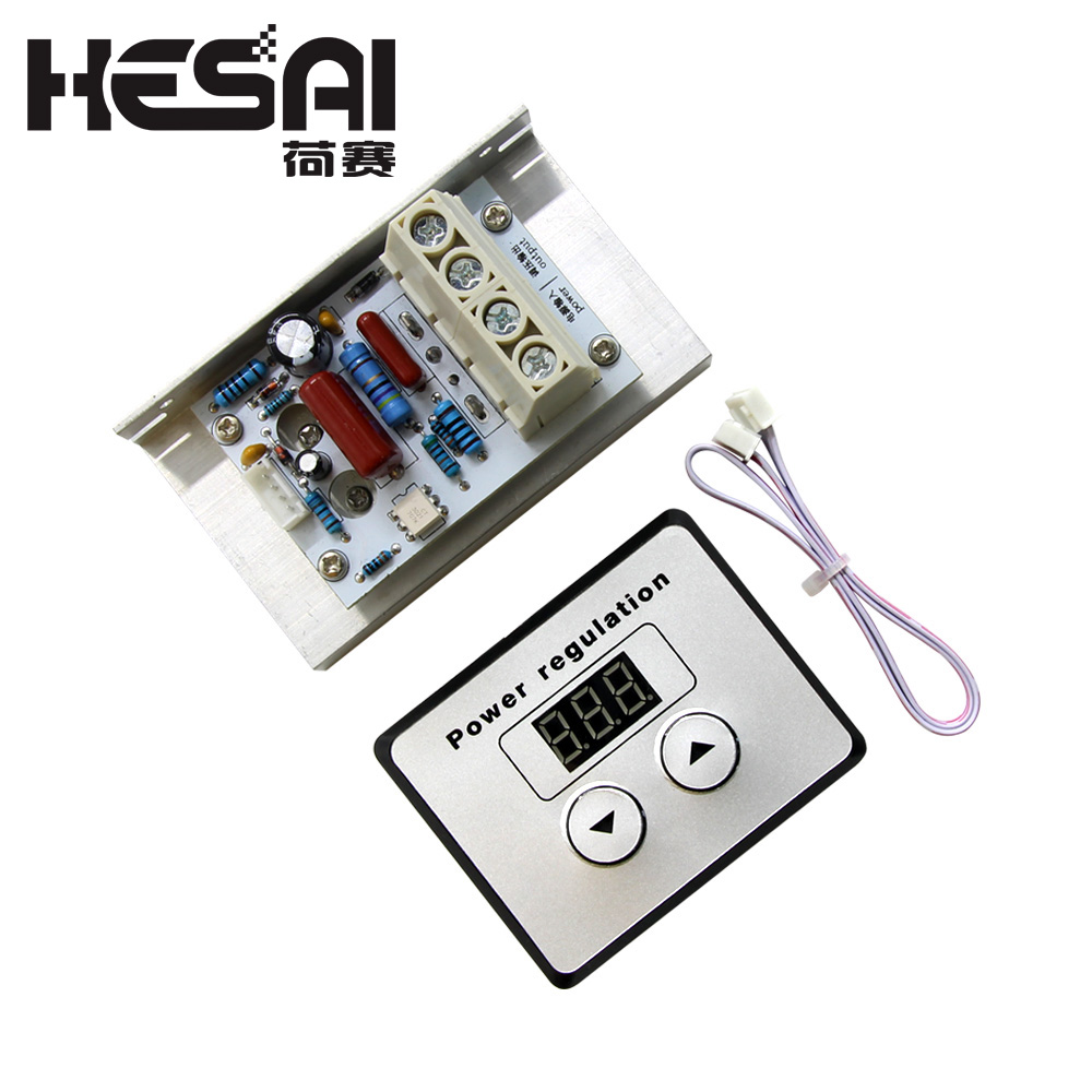 AC 220V 10000W 80A Digital Control SCR Electronic Voltage Regulator Speed Control Dimmer Thermostat + Digital MetersAC 220V 10000W 80A Digital Control SCR Electronic Voltage Regulator Speed Control Dimmer Thermostat + Digital Meters