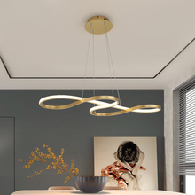 цены Modern LED restaurant pendant light For dining table Bar counter Aluminum pendant lamp Brown white Gold New