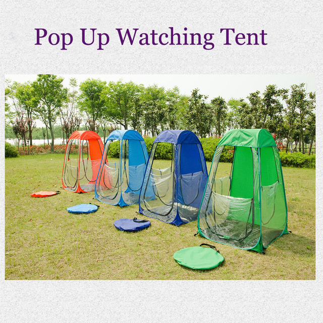 81b94eddadc Outdoor rainproof single person Private sun-shade insulation watching  sports pop up tent Keep warm pop up portable PVC tent