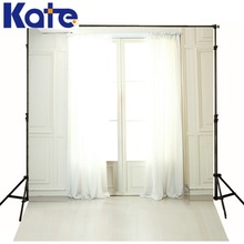 Kate 5x7ft White Indoor Wedding Photography Background  Interior Window Curtains Backdrops Photography Backdrops Lk4304