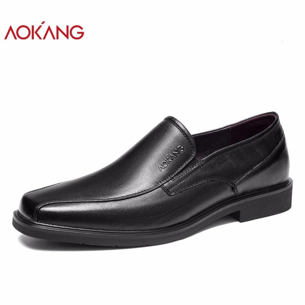 Adultos Zapatos Cuero Black183210068 Vestido Alta Otoño Genuino Nueva De  Masculinos Aokang Hombres Ocio Sociales Llegada ... 3d41e910f48