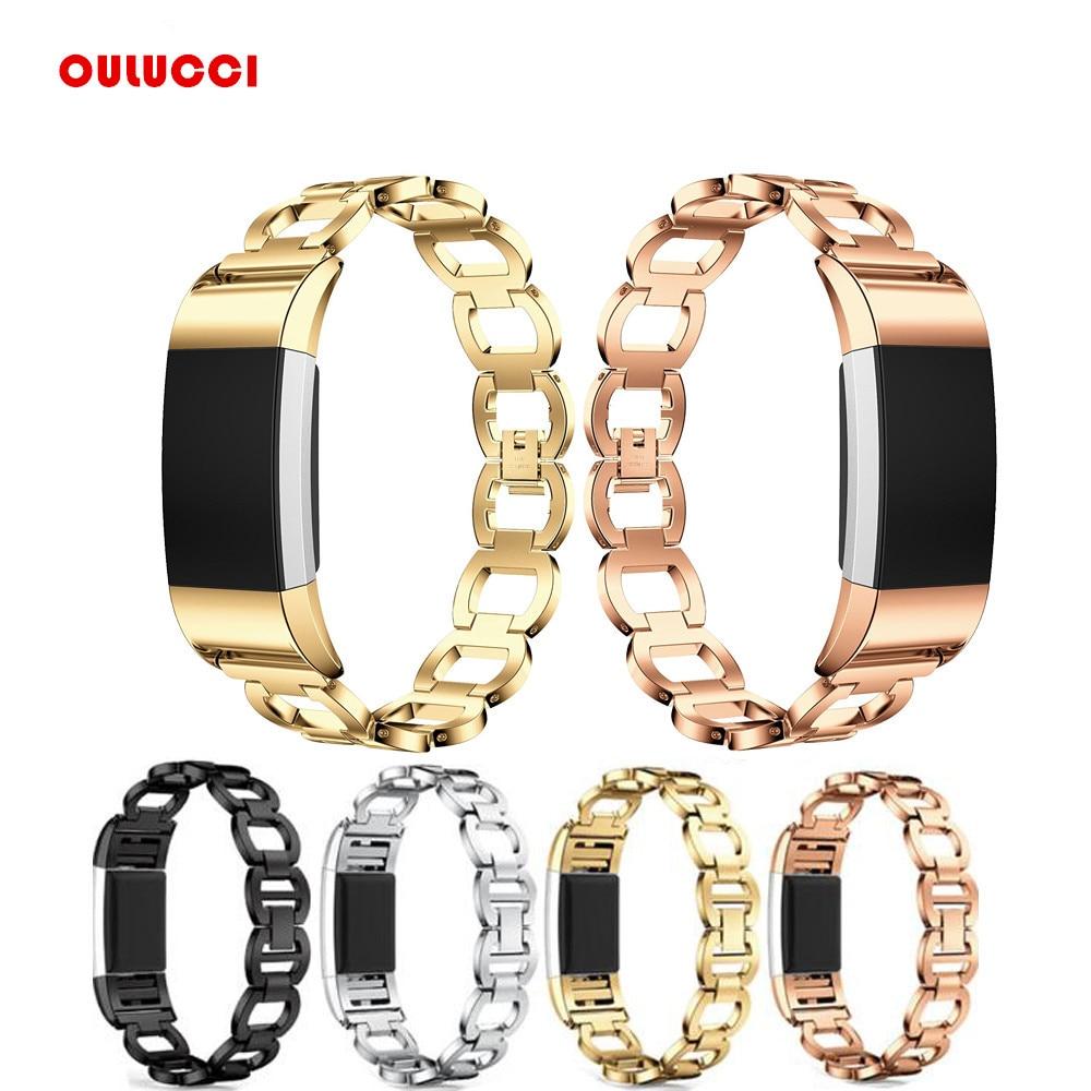 где купить For Fitbit Charge 2 Bands/Fitbit Charge hr 2, Replacement Bands For Charge 2 Fitness Tracker Black Large Black Gold Silver по лучшей цене