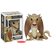 FUNKO POP 6'' Super Size Pop Viserion Game of Thrones 34# Collectible Model Action Figures Model Toys for Children Birthday Gift
