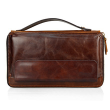 Famous Brand Men Clucth Wallets Male Long Genuine Leather Purse Men's Clutch Wallets Carteiras Mujer Clutch Man Handy Bags