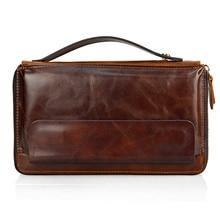 Купить с кэшбэком Famous Brand Men Clucth Wallets Male Long Genuine Leather Purse Men's Clutch Wallets Carteiras Mujer Clutch Man Handy Bags