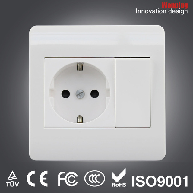 Hotsale Germany German wall outlet switch wall outlet wall socket ...