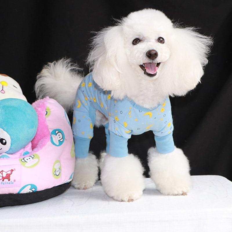Cute Pet Sleepwear Dog Teddy Nightdress 4 Legs Dog Clothing for Summer Spring Autumn Small Medium Dogs Puppy 4 Legs Type