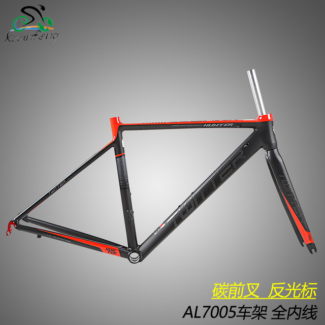 Twitter Road Bicycle Aluminum Frame Carbon Fork 700c Wheelset 44cm 46cm 48cm 50cm 52cm Bike Frame XC Riding Cycling Parts rolling stone attack carbon 700c road bicycle aero frame fork set uci approved 46cm 49cm 52cm