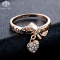 """Jessie Pepe""""Love You"""" Letter Heart & Bow Rings Anel For Women With Austrian Crystal Stellux Top Quality #JP95110"""
