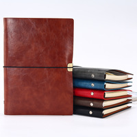 A5 Loose Leaf Travelers Ring Binder Spiral Faux Leather Paper Lined Sheets Refills Notebook Journal Planner Book Office Supplies