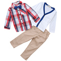 Autumn boys gentleman suit, boys clothing set,coat + shirt + tie + pants four piece,kids fashion suit for 2-8Y boys