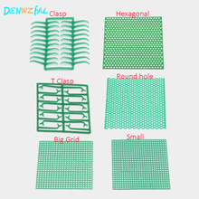 6 Boxes Dental Lab Material green Wax Mesh  Net Round Hole Square Grid Clasp Shape Sheet For Cast Metal Partial