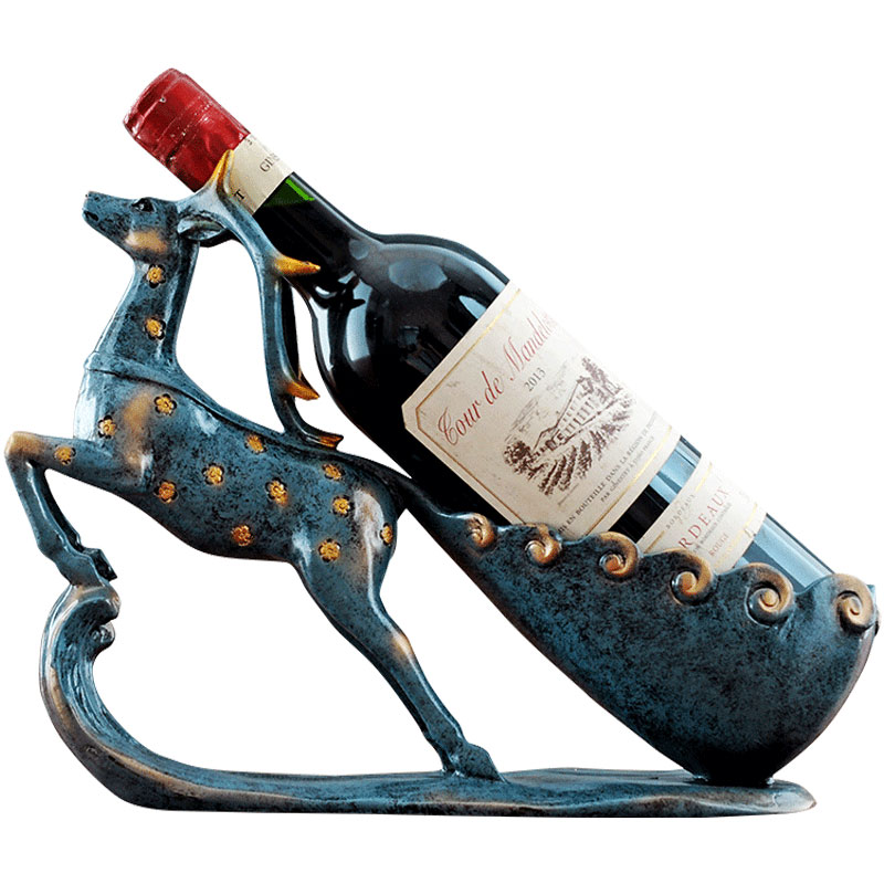 Креативная стойка для вина украшения с оленями современный минималистичный гостиная винный шкаф небольшой дисплей украшения для дома ново...