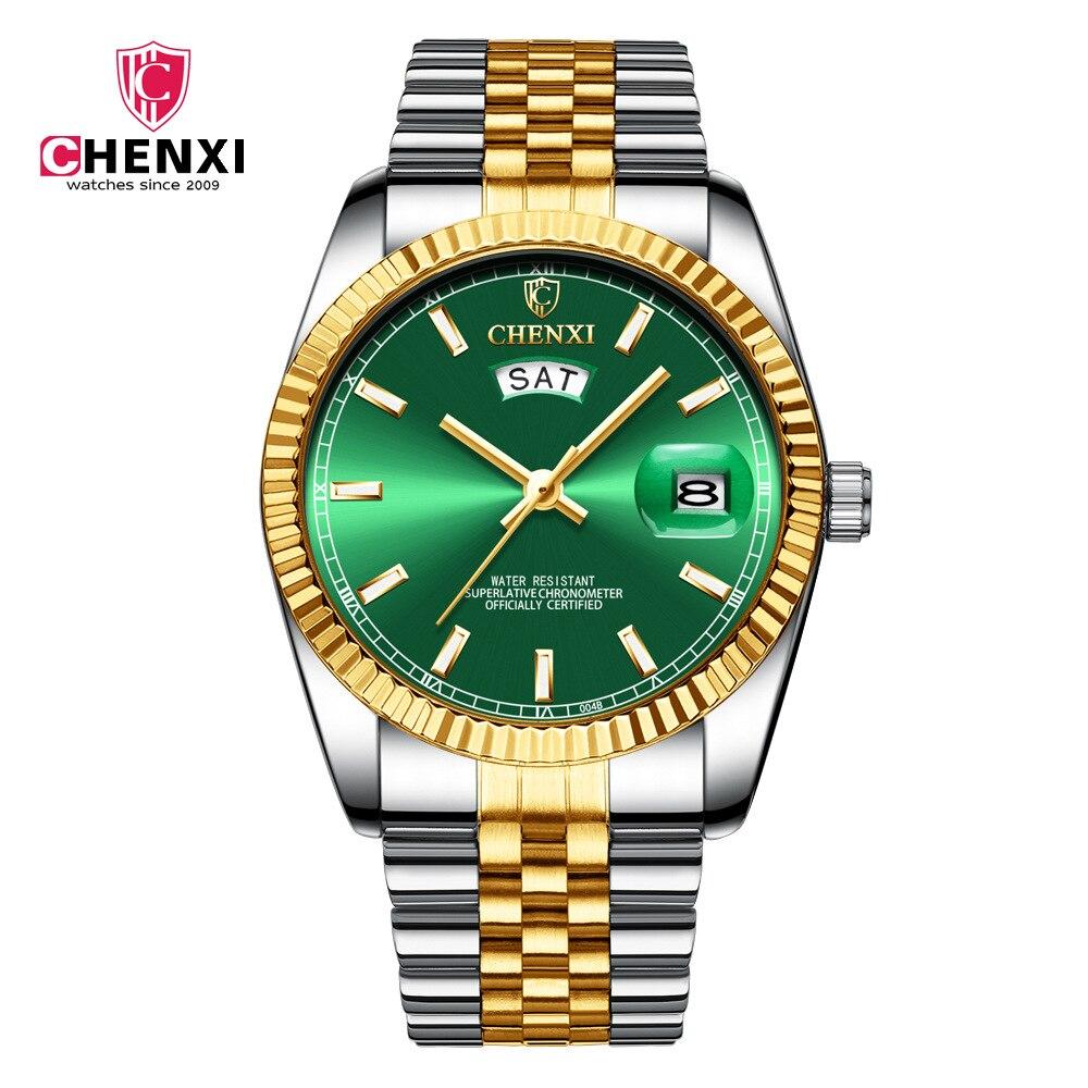 CHENXI 2019 New Top Brand Luxury Watch Steel Strap Calendar Wristwatch Male Fashion Waterproof Quartz Relogio Masculino