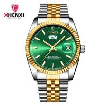 CHENXI 2019 New Top Brand Luxury Watch Steel Strap Calendar Wristwatch Male Fashion Waterproof Quartz Watch Relogio Masculino