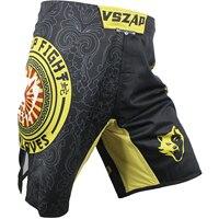 VSZAP KANJI MƯA wolf rắn xô quần short tập thể dục MMA Muay thái chiến đấu jujitsu đàn ông cơ bắp Muay Thái Màu Đen và màu vàng khâu