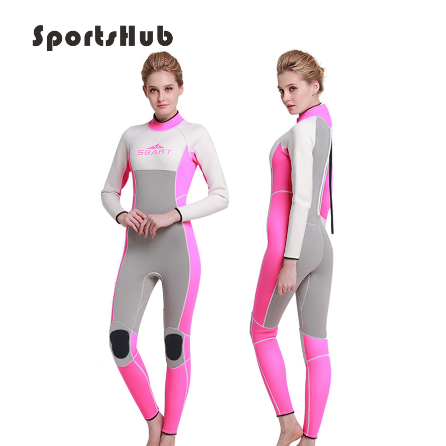 18e950d2fc SPORTSHUB 3MM Neoprene Scuba Diving Wetsuits Suits Swimming Surfing Wet  Suit Swimming Jumpsuit Full Bodysuit
