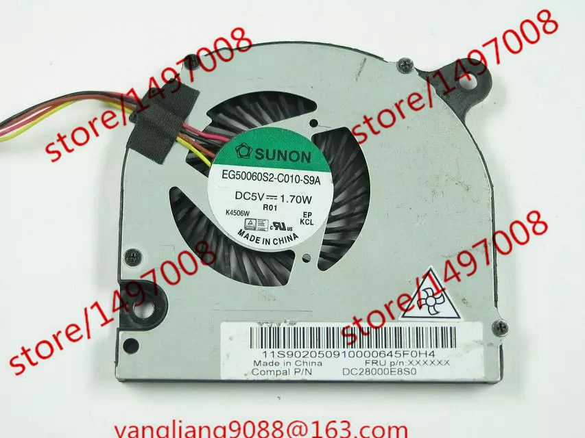 Free Shipping For SUNON EG50060S2-C010-S9A DC 5V 1.70W 4-wire 4-pin connector 45mm Server Laptop Cooling fan free shipping for sunon eg50040v1 c06c s9a dc 5v 2 00w 8 wire 8 pin server laptop fan