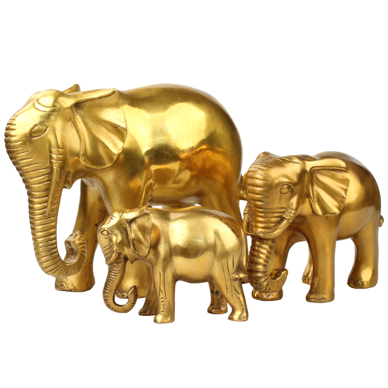 large Bring in wealth and treasure # office home shop Money Drawing efficacious Talisman Fortune Elephant FENG SHUI Brass statue