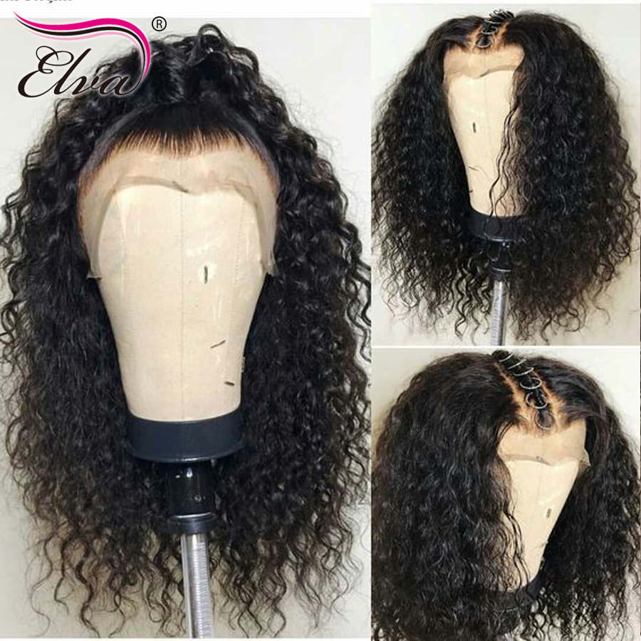 370 Lace Frontal Wig Fake Scalp Wigs For Black Women 13x6 Lace Front Human Hair Wigs Pre Plucked With Baby Hair Elva Remy Hair