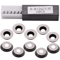 10pcs Round Carbide Cutter Inserts 1/2 12x2.5mm Fits Ci3 High Hardness For Wood Turning Tools