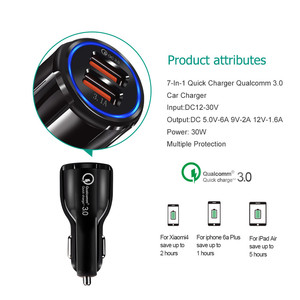Image 5 - Car Charger 2 USB Smart Port Charger Quick Charge 3.0 2.0 Compatible for iPhone X 8 7 6S 6 Plus 5 SE 5S 5 5CGalaxy S9 S8 S7 S6