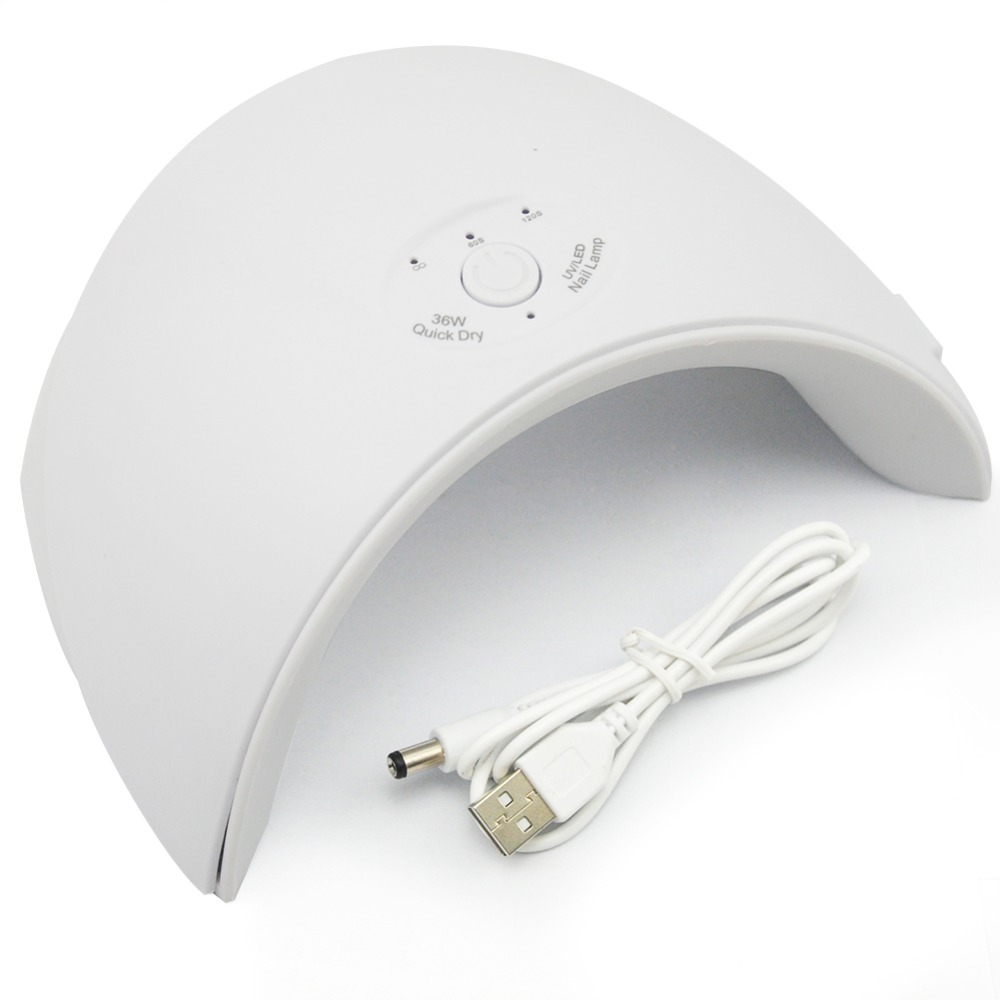 Nueva 36 w UV lámpara Led de uñas secador para todos los tipos de Gel 12 Leds lámpara UV para uñas máquina de curado 60 s/120 s temporizador conector USB
