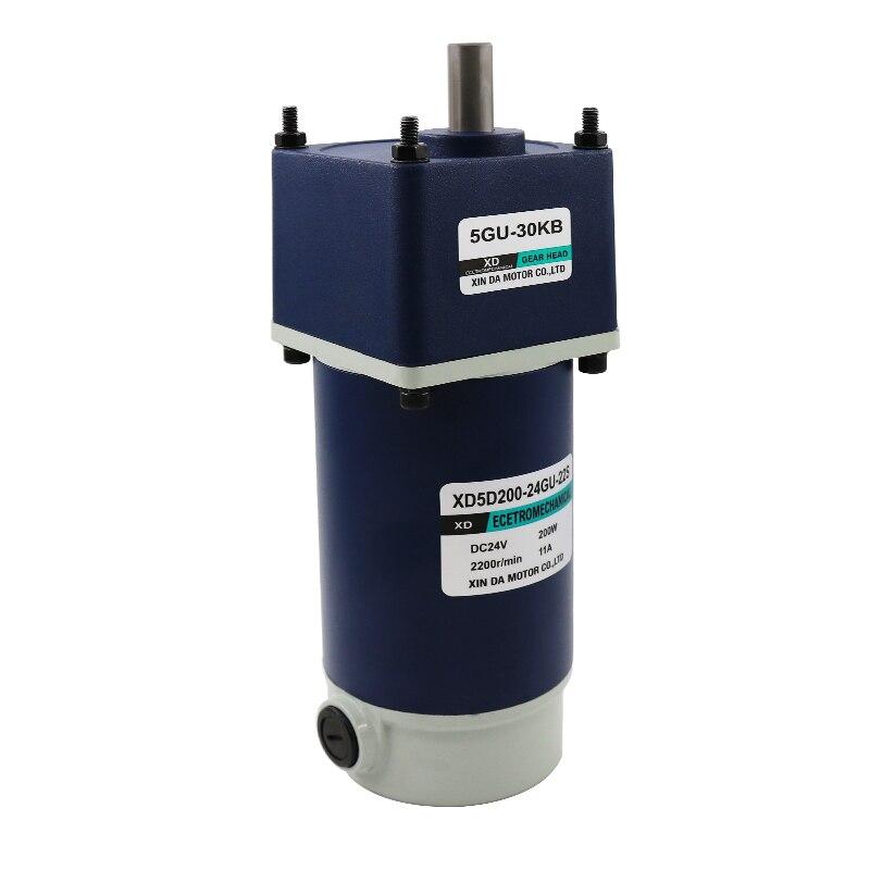 200 W DC motoréducteur 12V24V vitesse basse vitesse moteur micro contrôle de vitesse bidirectionnel petit moteur