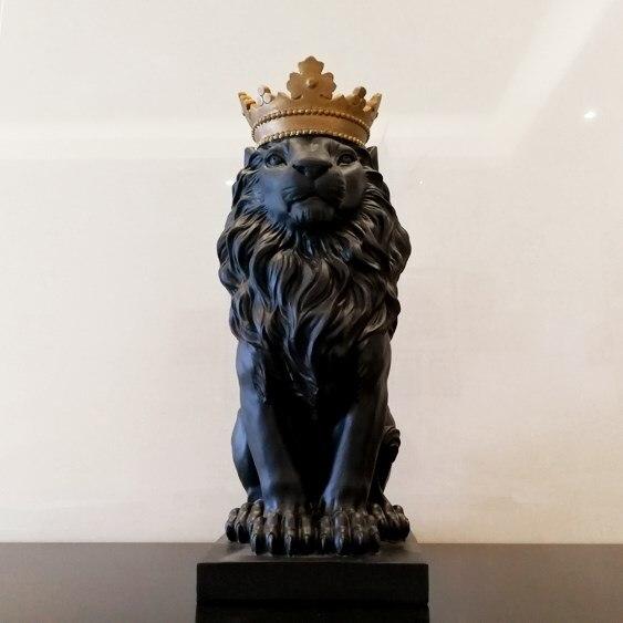 Nordique couronne Lion décoration maison décoration accessoires salon cave à vin bureau bureau modèle chambre décorations cadeaux
