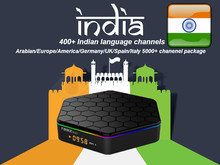India Pakistán IPTV T95Z Android IPTV Box con 4500 + irán Italia albano turco Latino XXX Francia Reino Unido India paquete decodificador(China)