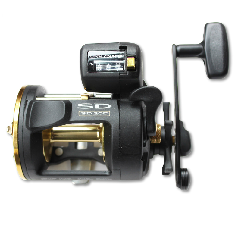 цена на High quality Okuma SD-20D Fishing Reel Bait Casting Drum Reel Boat Fishing Wheel Bait Casting Right Hand Reel Fishing Tackle