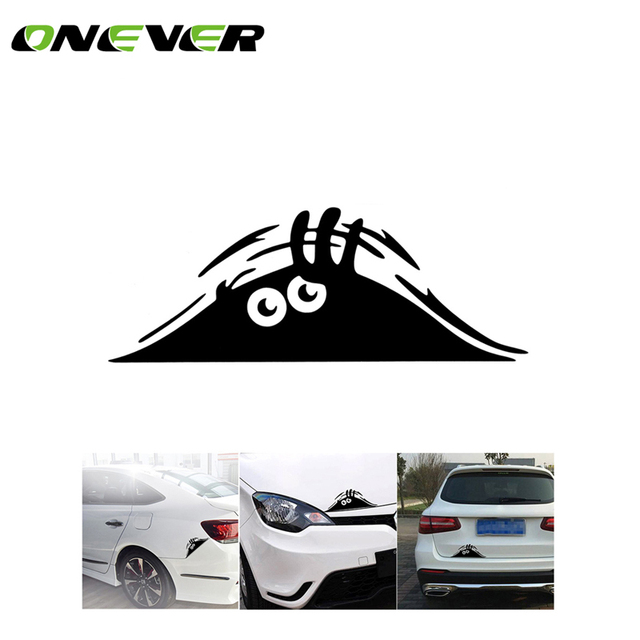 Funny peeking monster auto car walls windows sticker graphic vinyl car decals car stickers car styling