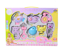 8 PCS Mixed Gift Box Baby Rattles Teether Set Early Development Toys 0-12 Months