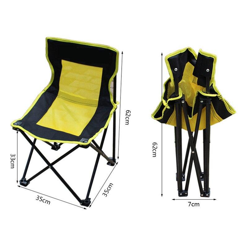 Автомобильный портативный Кемпинг без подлокотников пляжный стул рыболовный стул наружный складной Опора кресла значительные автостайлинг путешествия