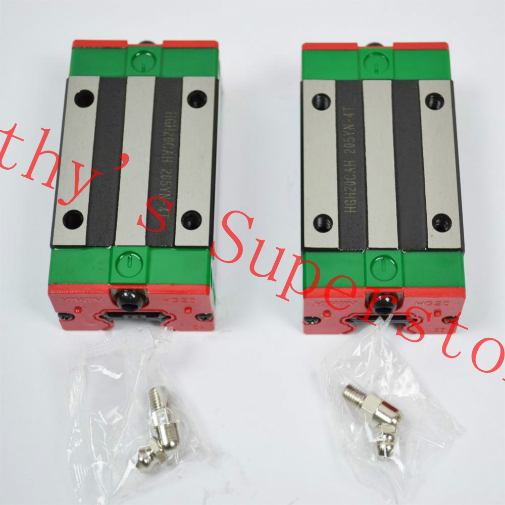 HIWIN linear guideway blocks HGH20HA long linear carriages for CNC router belt driven linear slide long travel distance guideway linear actuator