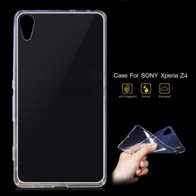 pretty nice 76ae4 e6d40 US $1.99 |Premium 0.6MM Flexible Case for Sony Xperia Z4 Clear Silicone  Back Cover for Sony Xperia Z3 Plus Phone Transparent Shell-in Fitted Cases  ...