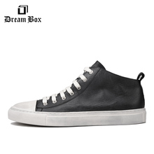 Mens Leather Breathable Tide Shoes Retro In The Casual Wild To Do Мужская обувь