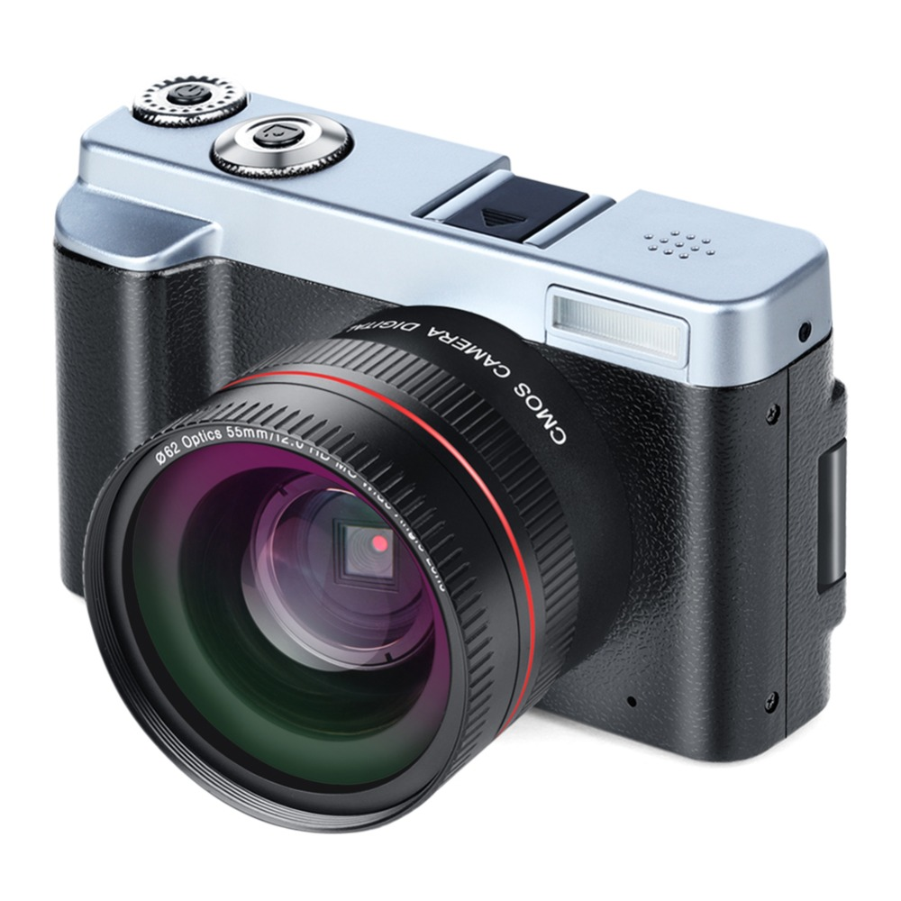 Caméra numérique ALLOET P12 écran Flip sans fil WIFI double grand Angle Len FullHD 1080 P 24MP 16X Zoom enregistreur vidéo caméra numérique