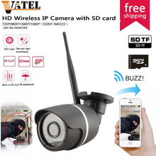 64GB SD Card Wireless Wifi IP Camera outdoor 720p/Sony322 Weatherproof H.264 Bullet Camera Network Security Camera Night Vision