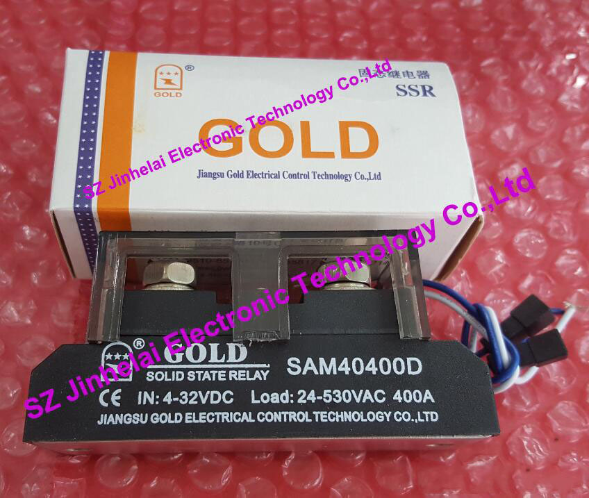 SAM40400D GOLD Authentic original SSR Single-phase DC control AC SOLID STATE RELAY 4-32VDC, 24-530VAC 400A sa366250d sa3 66250d gold authentic original ssr 3 phase dc control ac solid state relay 250a