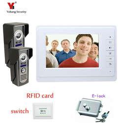 Yobang безопасности Бесплатная доставка 7 дюймов Цвет видео Дверные звонки домофон Системы Камера Запись Мониторы видеодомофон