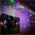 4X0.6 M Ano Novo Garland Kerst Navidad LEVOU Cristmas Decoração LED das Luzes de Natal Luzes Cordas de Fadas Lumineuse Guirlande DIODO EMISSOR de luz